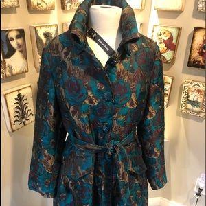 NWT Samuel Dong Brocade Coat style #20624